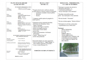 Oferta educationala Colegiul Tehnic Anghel Salignz Bucuresti