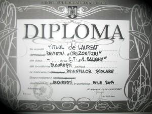 diploma Orizonturi - 1