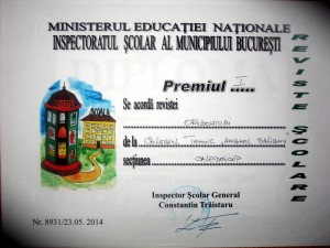 "Revista "" Orizonturi"" – Colegiul Tehnic Anghel Saligny – Bucuresti  – NR.2 / 2014"