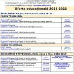 Ofertă educaţională 2021-2022
